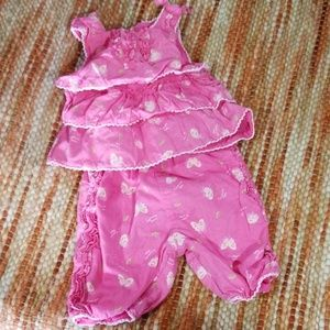 TCP 0 3 month baby girls ruffle top pants outfit